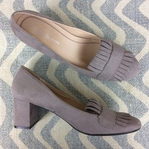 Chinese Laundry Taupe Anete Dress Loafer Pump 9.5